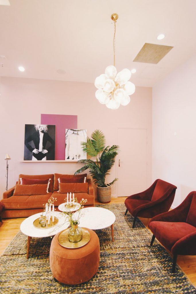 ギャラリー・ラファイエットのマカロン教室は、素敵なプライベートルームで。